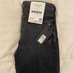 Rag and Bone Cate Zip Hem Ankle Skinny Jeans